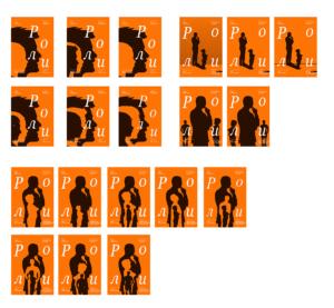 варианты макетов плаката «Роли»