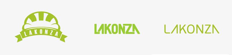Первые варианты логотипа «Lakonza»