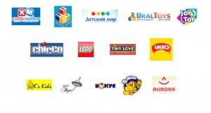 Существующие логотипы детских магазинов и игрушечных фабрик