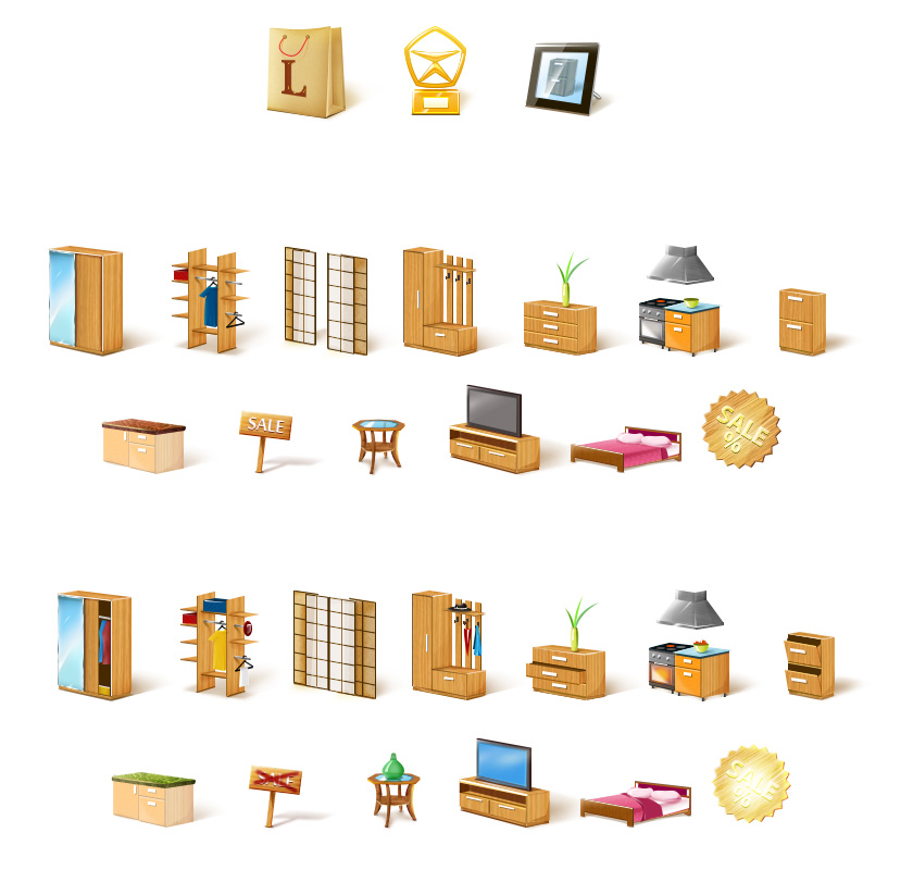 Иконки сайта интернет-магазина мебели Leonardo