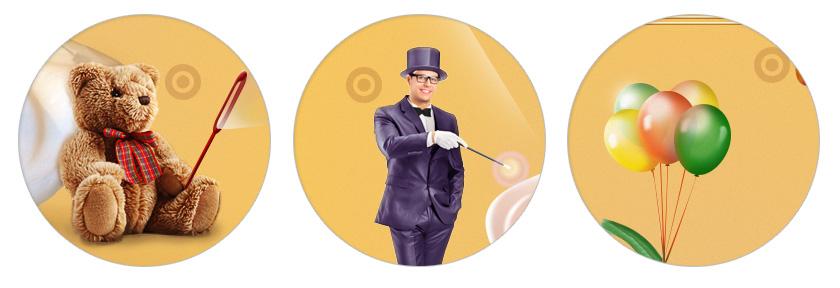 Дизайн сайта праздничного агентства - тизеры